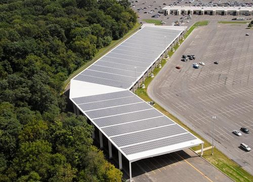 Huge Solar Rack Structure Installed in NJ