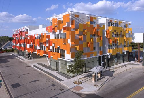 Colorful Mixed-Use Eco Lofts in Austin