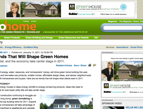 Interview with EcoHome Magazine