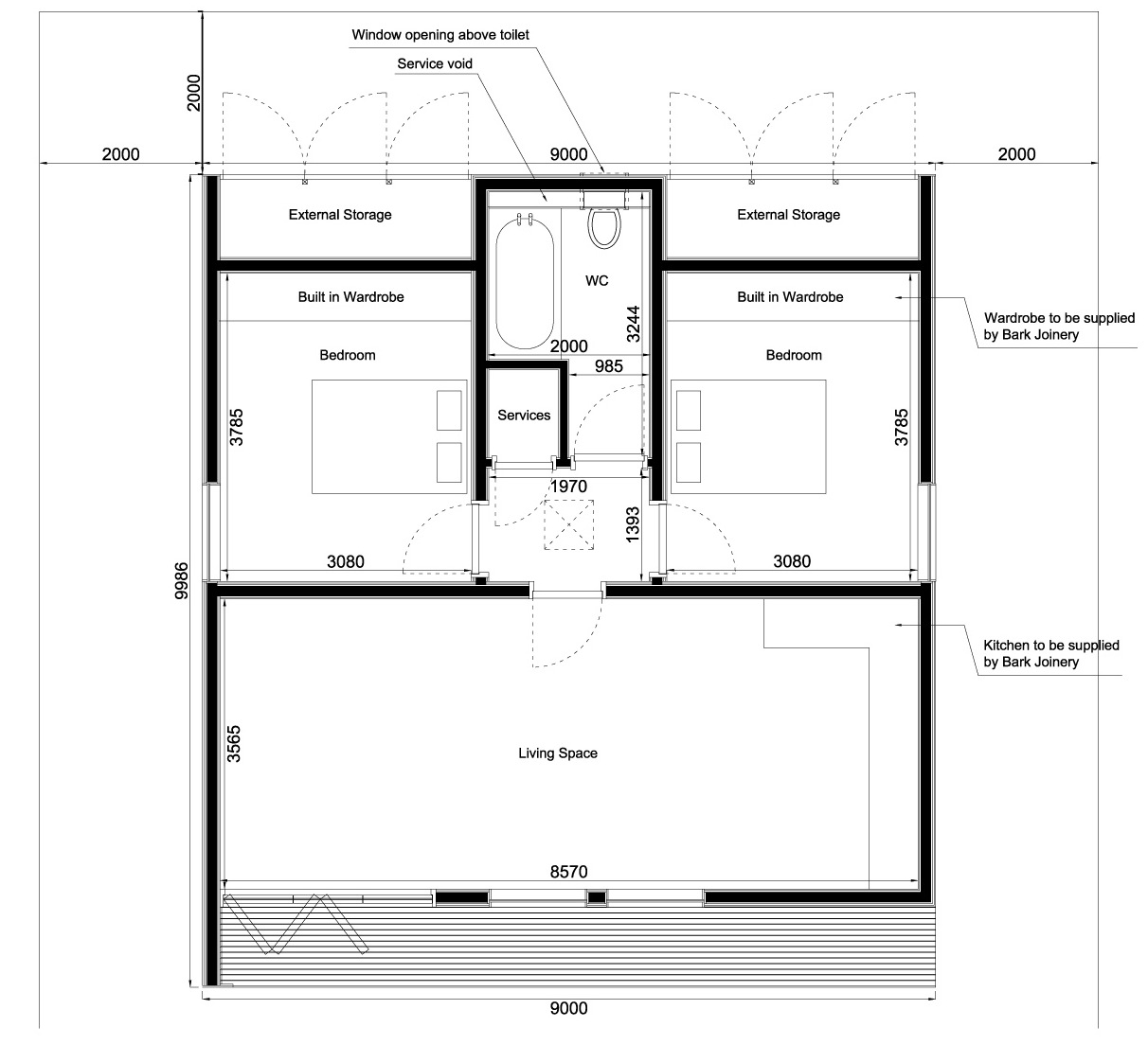 Accessory dwelling unit floor plans thefloors co for Adu house plans