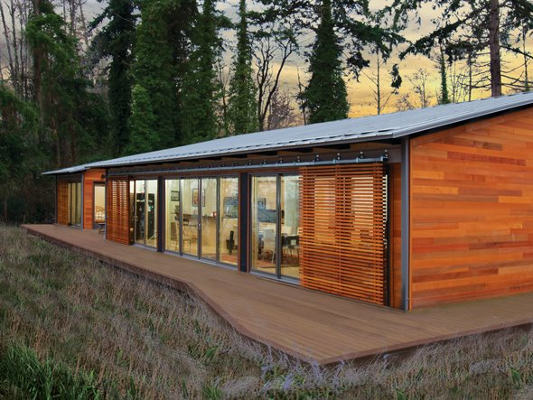 Jetson Green Glidehouse Prefab Built On Vashon Island