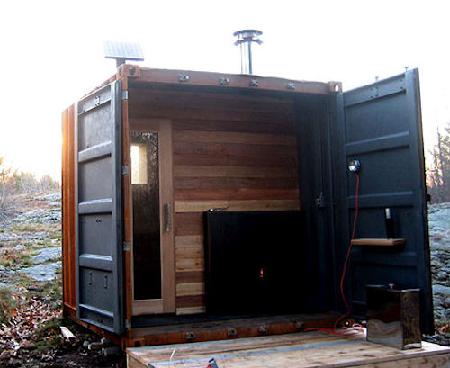Jetson Green Shipping Container Inspired Sauna Is Prefab