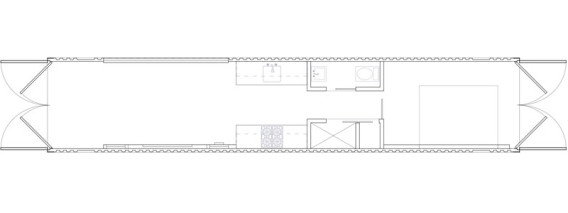 Shipping Container Modular Home internal diagram