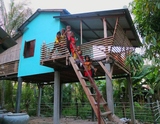 Jetson Green Affordable Wooden House Build For Cambodia