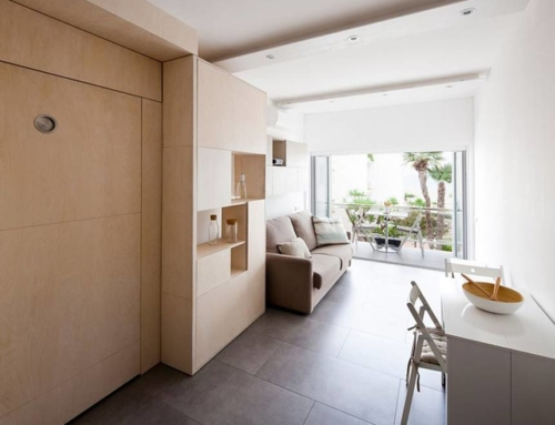 Micro apartment turned into a family home with transformer furniture