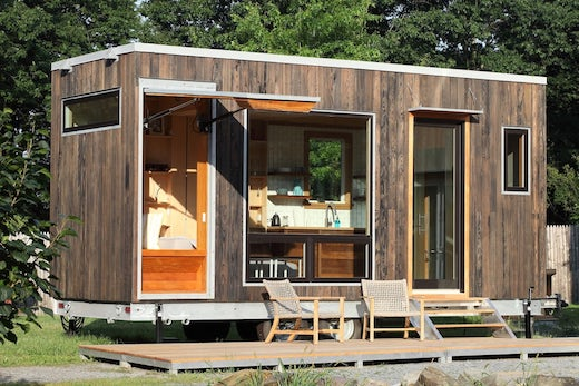 Jetson Green Tiny Home Design With A Hidden Bed