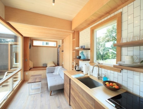 Tiny Home Design With a Hidden Bed